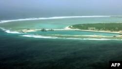 永興島上富有爭議的西沙群島鏈(資料照片)