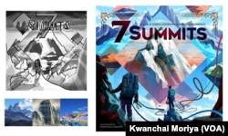 The illustration process of Kwanchai Moriya, a Thai-Japanese boardgame illustrator, in California