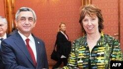 Հայաստանի նախագահը հանդիպում է ունեցել ԵՄ-ի հանձնակատար Քեթրին Էշթոնի հետ