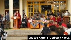 Dalai Lama Releases Former Union Minister Shanta Kumar's Book Photo Courtesy Lhakpa Kyizom