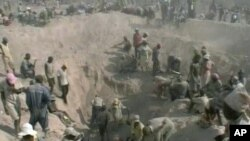 A diamond mine in Africa
