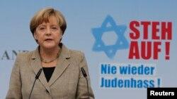 Nemačka kancelarka, Angela Merkel na skupu protiv anti-semitizma, 14. septembar 2014.
