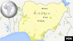 Carte de la ville de Jos au Nigeria.