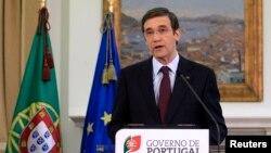7일 대국민 연설을 통해 긴축정책 계획을 발표하는 포르투갈의 페드로 파소스 코엘료 총리.