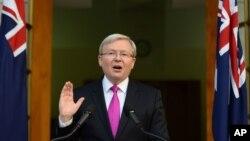 Thủ tướng Australia Kevin Rudd.