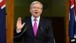 PM Australia Kevin Rudd hari Jumat (30/8) memerintahkan warga Australia agar segera meninggalkan Suriah (foto: dok).