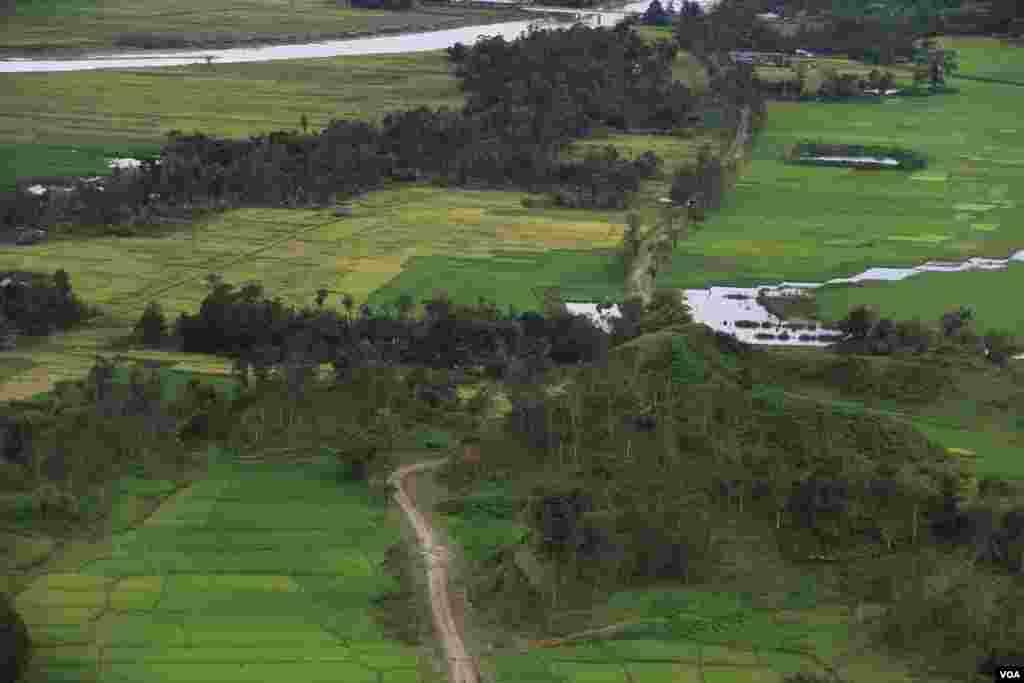 ریاست رخائن کے شمالی علاقے کا ایک منظر