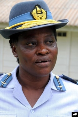 Air Commodore Ellen Chiweshe is photographed in Harare, Zimbabwe, Monday, Jan. 4, 2016. Chiweshe became the southern African country's first female air commodore, the number-three post in the air force. (AP)