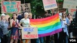 Arhiv - Protest LGBT osoba u Sarajevu, 2017.