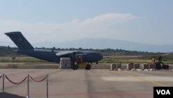 Dos aviones de carga militares C-17 de EE.UU. salieron de la base a aérea de Homestead la mañana del sábado 16 de febrero rumbo a Cúcuta.