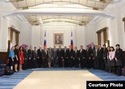 马英九会见美国贸易谈判代表团 (总统府提供)