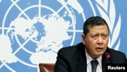 마루즈끼 다르수만 유엔 북한인권특별보고관 (자료사진)