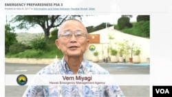 "Vern Miyagi appears in a PSA announcing the addition of the Attack Warning to Hawaii's monthly ""Attention Alert"" test."