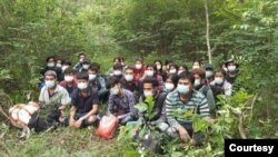 ေမလ ၉ရက္ေန႔က ဖမ္းဆီးခံရတဲ့ ျမန္မာႏိုင္ငံသားမ်ား (ဓါတ္ပံု- Thai police)
