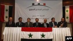 Члены сирийской оппозиции на совещании в Стамбуле