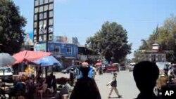 چوک شهر تالقات مرکز ولایت تخار