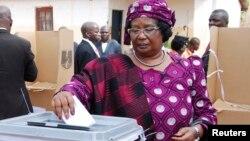 Presidente Joyce Banda votou em Malemia, 20 Maio 2014