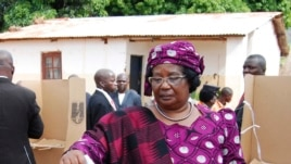 President Joyce Banda votes in her home district of Malemia, May 20, 2014