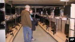 Odjel elektronike u trgovini Sears