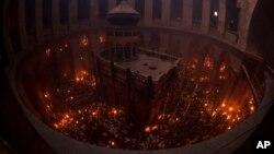В храме Гроба Господня. Иерусалим. 4 мая 2013 г.