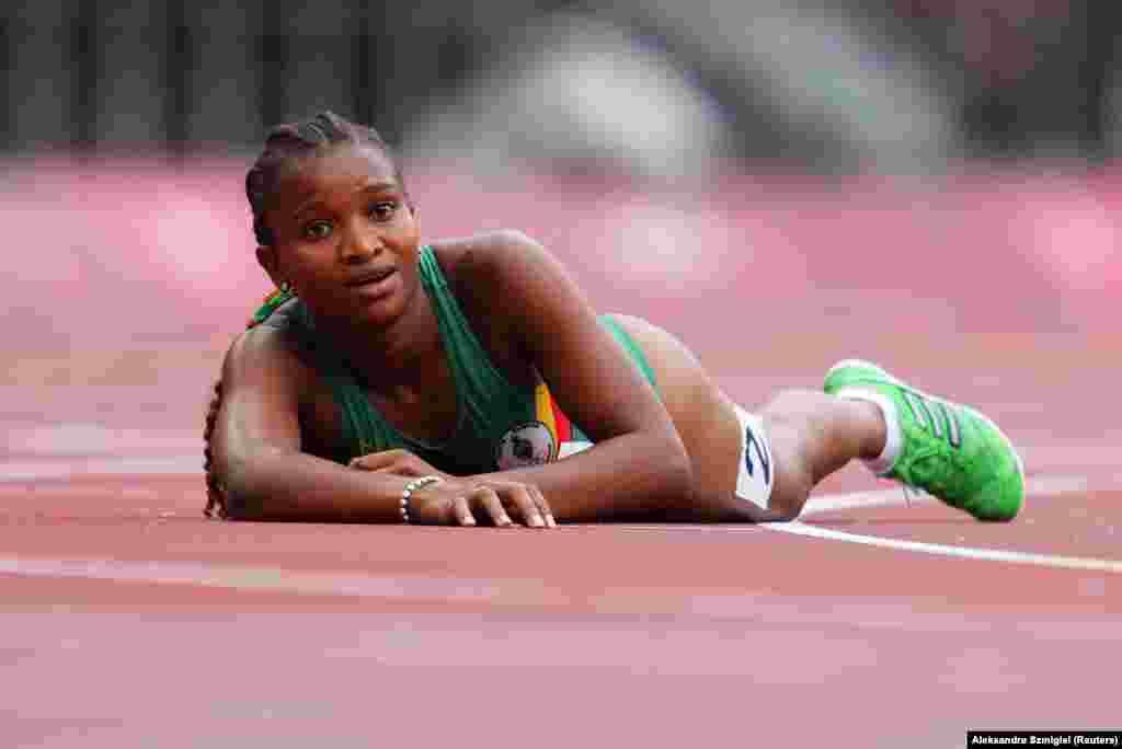 Jogos Olímpicos 2020 - atleta são-tomense Djamila Tavares depois da primeira ronda dos 800m femininos - Tóquio, 30 de Julho 2021