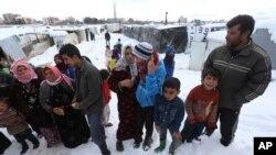Pengungsi Suriah di kamp Zahleh, Lembah Bekaa, Lebanon (foto: dok).