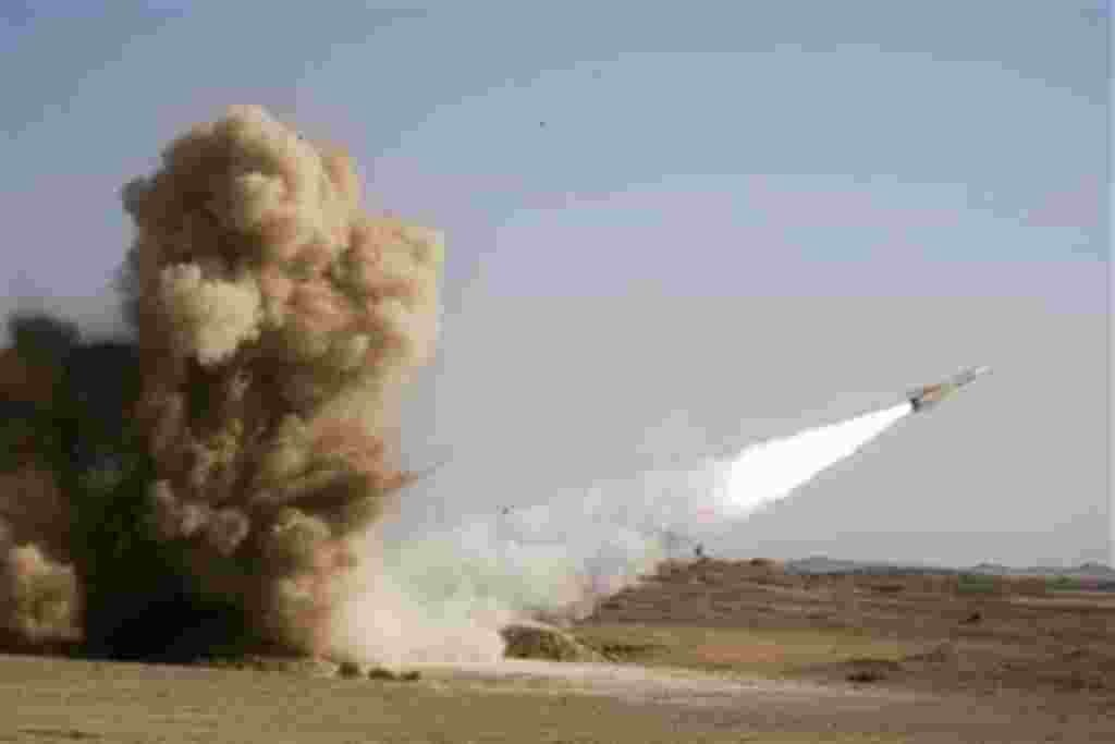 This photo released by the Iranian army, claims to show launching of Shahin missile in armed forces war games, outside the city of Semnan about 140 miles (240 kilometers) east of the capital Tehran, Iran, Thursday, Nov. 18, 2010. Iran has successfully tes