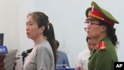 Vietnam Blogger Nguyen Ngoc Nhu Quynh's trial. (File)