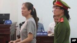 Bà Quỳnh trong phiên xử ngày 29/6.