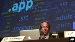 Internet Corporation for Assigned Names and Numbers, ICANN, President and Chief Executive Rod Beckstrom during a press conference in London last week