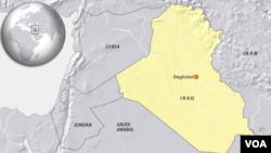 Bản đồ thủ đô Baghdad ở Iraq.