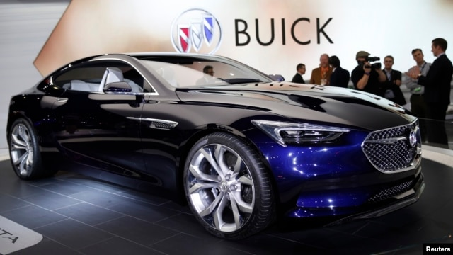 The Buick Avista concept car is displayed at the North American International Auto Show in Detroit, Michigan, Jan. 12, 2016.