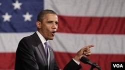Presiden Barack Obama menghimbau kedua fraksi di Kongres AS agar memusatkan pada upaya-upaya untuk mengatasi kesulitan ekonomi Amerika.