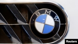 The logo of German manufacturer BMW is seen in Zurich, Switzerland, June 10, 2016.