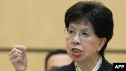 Phát biểu trước bộ trưởng y tế 136 nước thành viên WHO, Bác sĩ Margaret Chan đưa ra nhiều hình ảnh tích cực