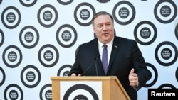 美國國務卿蓬佩奧5月8日在倫敦再次就華為問題提出警告。