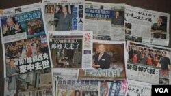 香港報紙大幅報導追憶邵逸夫
