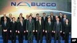 Nabucco doğal gaz boru hattı projesinin 2009'da Ankara'da yapılan imza töreni