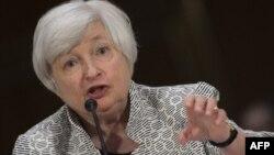 美國聯儲局主席珍妮特耶倫7月15日出席國會參議院金融委員會聽證會。
