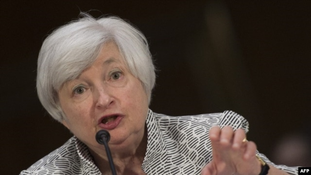 FILE - US Federal Reserve Chair Janet Yellen.