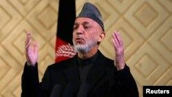 9일 아프가니스탄 카불 대학 80주년 기념식에서 연설 중인 하미드 카르자이 아프가니스탄 대통령.