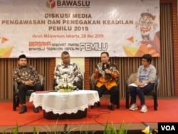 Bawaslu menyatakan telah menyiapkan dokumen dan data-data untuk menghadapi gugatan Prabowo-Sandi di MK. (VOA/Rio Tuasikal)