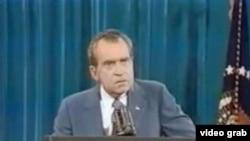 尼克松总统 (资料照片)