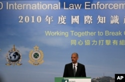 Eric Holder à Hong Kong
