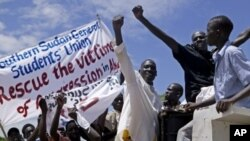 Daruruwan mutane suka yi zanga zangar kin jinin girke dakarun arewacin Sudan a Abyei.