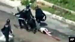 مظاہرین پر سکیورٹی فورسز کی کارروائی کی وڈیو سے حاصل کردہ تصویر