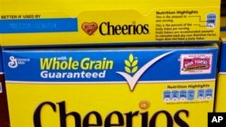 Sereal 'Cheerios' kini tidak lagi menggunakan bahan-bahan yang direkayasa secara genetika atau bahan transgenik (foto: dok).