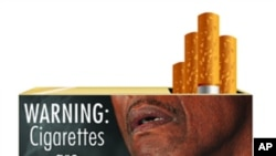 New graphic cigarette packaging, released by the U.S. Food and Drug Administration June 21, 2011, shows a varied collection of dead bodies, diseased lungs and a man on a ventilator were among the graphic images for revamped U.S. tobacco label. THIS IMAGE