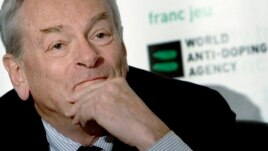 Dick Pound, former chairman of the World Anti-Doping Agency, during news conference in Montreal, Quebec, May 13, 2007.