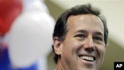 9일 오클라호마시티에서 선거유세 중인 공화당 대선후보 릭 샌토럼 전 상원의원